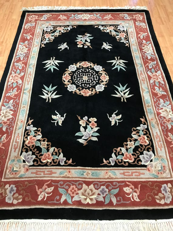 """5'5"""" x 8' Chinese Aubusson Oriental Rug - Full Pile - Hand Made - 100% Wool"""
