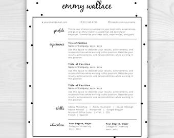 cv template etsy - Download Resume Template For Word