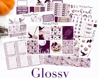 GLOSSY | Witching Hour | Weekly Planner Sticker Kit