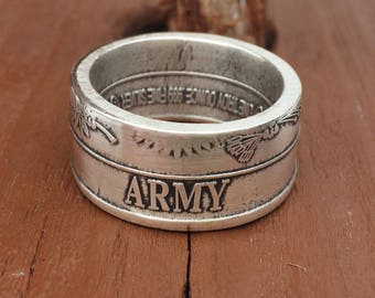 United States Army Coin Ring
