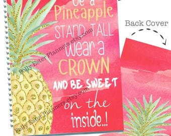 2018-2019 PLANNER, Pineapple Planner Cover, Daily Weekly Monthly Planner, Daily Planner, Planner Organizer, 2018 Agenda, 2018-2019 Planner