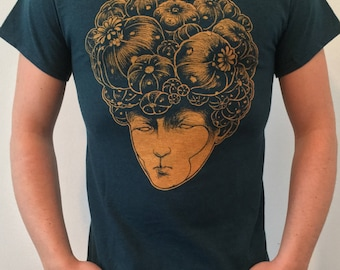 Lophophora williamsii/Cactus T-shirt/weird color/Peyote T-shirt/Limited Edition/streetwear/Coraggioiltopo/Bloom head/Psychedelic