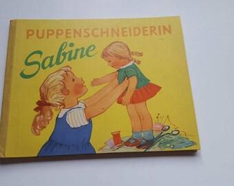 Free Shipping! Puppenschneiderin Sabine German Children's Book Vintage