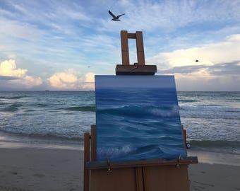 Beach Painting, Ocean Waves, Seascape, Beach Canvas Art, Beach Art, Small Oil Painting, Coastal Painting, Ocean Art, Original Painting,