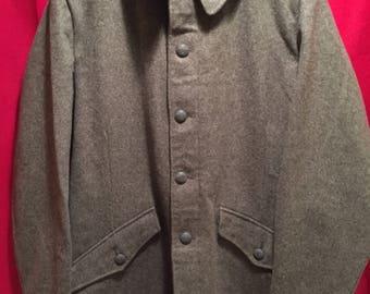 Vintage 1950's Swedish Army Wool Coat