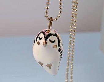 Bird Lover Gift, Gift For Her,  Bird Jewelry, Cute Blue Bird, Tiny Bird Ceramic Necklace