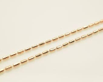 "18K Rose Gold Filled Chain 17.25"" Inch CG212"