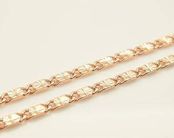 "18K Rose Gold Filled Chain 19"" Inch CG208"
