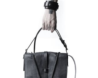 Little leather bag 005Y-black