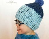 Ribbed Crochet Beanie PAT...