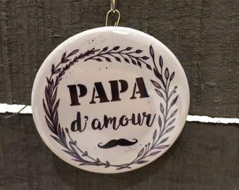 Porte-clés Décapsuleur message spécial papa d'amour