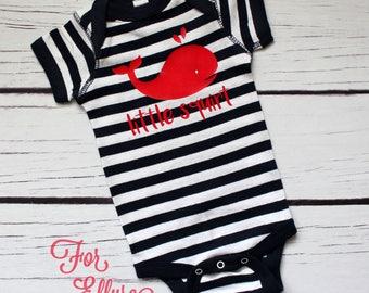 Little Squirt newborn bodysuit - one piece nautical infant layette