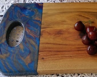 Wooden camphour serving board customised with original  artwork