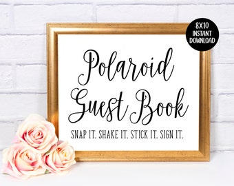 Photo Guest Book Sign In | Wedding Sign | Guest Book | 8x10 Sign | Decor | Instant Download