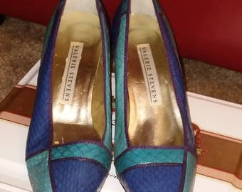 Vintage Valerie Stevens Multi-colored Pumps