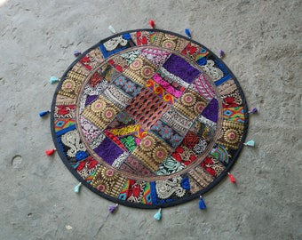 Bohemian Tapestry, Mandala Tapestry Hippie Home Decor, Round Table Cover  Round Ethnic Wall Hanging