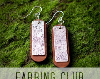 Earring of the Month Club, Subscription Box, Earring Box, Earring Club, Jewelry Subscription, Jewelry Club, Earring Subscription Box,