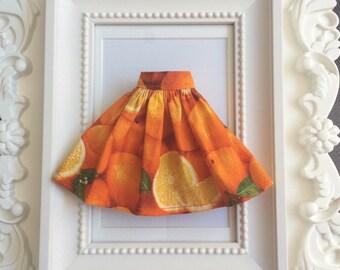 """Skirt for Blythe """"Oranges"""""""
