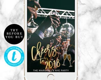 Cheers to 2018 New year snapchat filter Cheers to the new year NYE filter New year filter New year geofilter New year party Custom filter