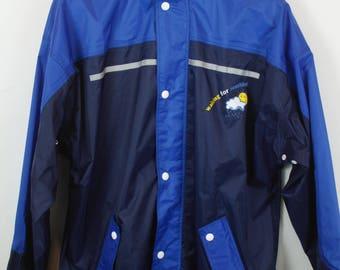 Vintage rain jacket, 90s windbreaker, vintage sportswear, 90s clothing