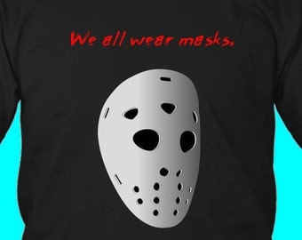 mens tee, mens top, gift for him, horror t shirt, horror tee, halloween t shirt, mask t shirt, gift for him, movie t shirt, movie tee
