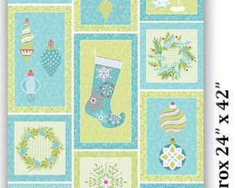 Sparkle - Panel - Contempo by Benartex - by Amanda Murphy - Christmas Blocks