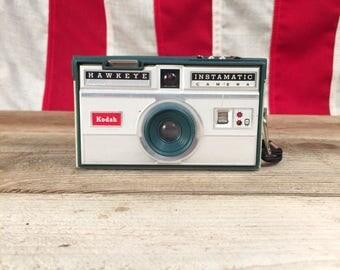 Kodak Hawkeye Instamatic Camera with Wrist Strap • Vintage Film Camera made by Eastman Kodak