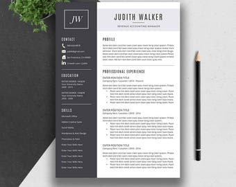 professional resume template cover letter cv template word mac and pc - Cover Letter And Resume Template