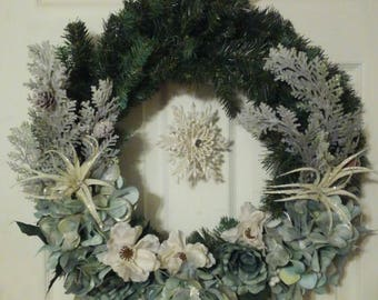 Clearance | Christmas Wreath | Winter Wreath | Christmas Decor | Pastels | Ornament | Flowers | Pine |