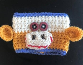Coffee Cup Cozy Sleeve - Monkey