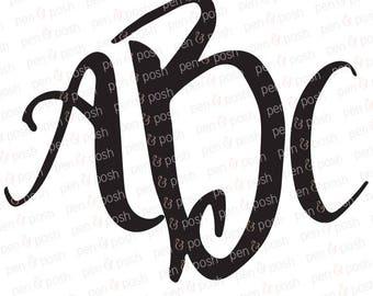 SVG Fonts - SVG Monogram Font - Monogram Fonts - Monogram Font SVG - Font  Monogram  Monogram Fonts