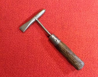"Vintage Atlas Welding Chipping Hammer 10"" Older Style Wood Handle Tool"