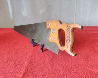 "Vintage Disston Keystone K-4 Air Master Handsaw 26"" Straight Back Crosscut Saw"