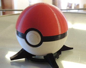 Full Size Pokeball (With working push button release), Includes stand