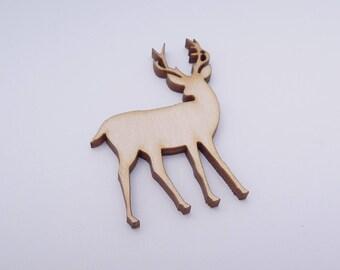 Wooden Deer Shape for Crafts - Laser Cut - Deer Lover Gift - Blank Deer - Deer Shape