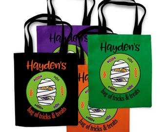 Kids Halloween Bags, Mummy Bag, Trick or Treat Bag, Halloween Treat Bags, Halloween Bag, Halloween Bucket, Halloween Basket 0466