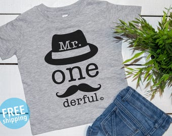 1st Birthday shirt, Mr onederful shirt, Mr Onederful tee, 1st birthday tee, 1stBirthday boy shirt, Boys first birthday outfit