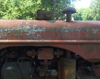 Vintage Allis-Chalmers Lettering, 1940s Allis-Chalmers Tractor, Digital Download, Digital Photography