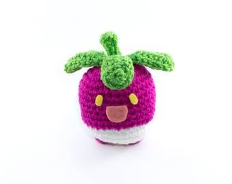 Bounsweet Amigurumi, Crochet Bounsweet, Pokemon Moon, Pokemon Moon, Pokemon Amigurumi, Pokemon Plush, Pokemon, Kawaii Plush, MADE TO ORDER