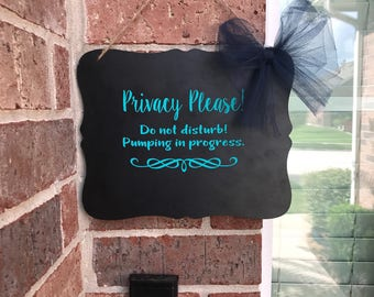 Privacy Please Door Sign, Do not Disturb, Do not knock, Door Sign, baby sleeping sign, Work Door Sign,  Pumping door sign, Nursing Sign
