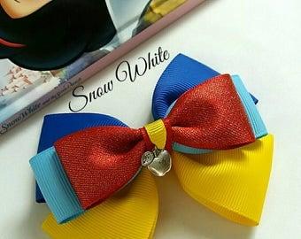Snow White Hair Bow, Princess, Baby Headband,Red, Yellow, Blue, Disney,Uk