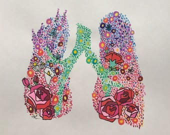 Lungs Floral Print