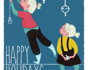 PRINTABLE Greeting card - Happy Holidays - downloadable - gift