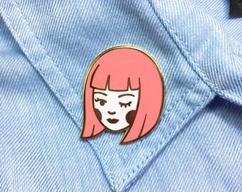 Little Flirt Enamel Pin