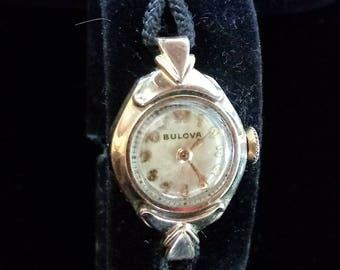 Vintage 1940s Ladies Bulova Watch