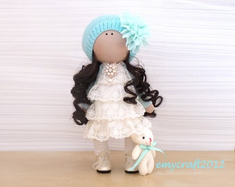 Interior doll Matilda doll Art doll only Girl textile doll Tilda doll Cloth doll OOAK Soft dolls Rag doll Home decor Plush doll Gift for her