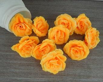 Flower head-Flower heads orange color-high quality artificial flower for floral arrangements