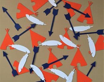 Confetti - tribal, teepee, arrow, feather