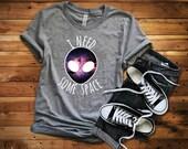 Alien Unisex T-Shirt, Universe/Space/Funny T-Shirt, Galaxy/Indie/Hippie