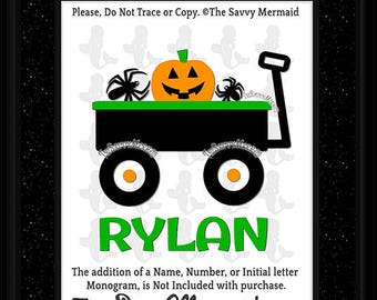 Boys Halloween SVG file- Halloween DXF Cut file- Halloween Truck Svg- Fall Truck Svg- Wagon Svg- Silhouette Halloween Shirt- Cricut Iron on